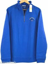 NWT Tommy Bahama Blue Relax Aruba 1/2 Zip Sweater (zipper pull missing) $98