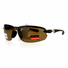Xloop Polarized Lens Sunglasses Rimless Sports Oval Rectangular Frame