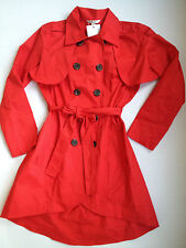 CAbi Red Jacket #334 Convertible Trench Coat Vest Poppy Red Size 10 NWT