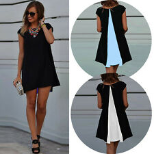 Summer Sexy Womens Short Sleeve Party Dress Evening Cocktail Casual Mini Dress