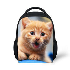 Cute Cat Baby Toddle Kids Small Backpack School Bag for Little Girls Lunch Bag