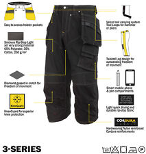 Snickers Trousers 3923 Rip-stop Pirate Work Trousers, SnickersDirect Black