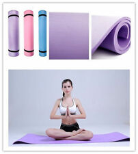 "BLUE 6mm Thick Non-Slip Yoga Mat Exercise Fitness Lose Weight 68""x24""x0.24""  HA"