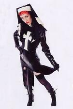 THE FEDERATION RUBBER LATEX SLEEVED NUN OUTFIT WITH HEAD DRESS BRAND NEW