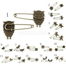 10 Bronze Retro Zinc Alloy DIY Pin Scarf Brooches Crafts Jewelry Antique