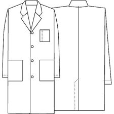 FREE NAME EMBROIDERY, Cherokee Unisex Three Pocket Long Twill Medical Lab Coat