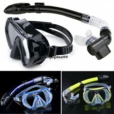 Scuba Diving Snorkeling Mask Dry Snorkel Water Sports Gear Combo Set New OO55