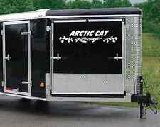 """ARCTIC CAT DECAL wFLAGS 8"""" X 36"""" FOR TRAILER SET OF 2"""