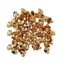 6/8mm Blank Round Cup Caps Beads Bail Connectors Pendants Pack of 50 pcs