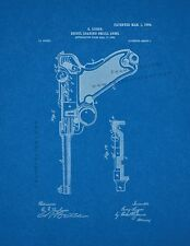 Luger Recoil Loading Small Arms Patent Print Blueprint