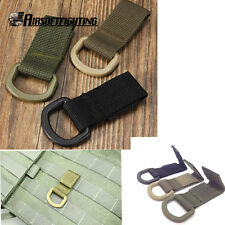 Tactical Strength Nylon Molle Webbing Belt D Buckle Hanging Keychain Backpack
