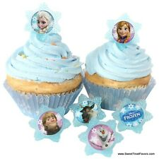 FROZEN Anna Elsa CupCake Cake Topper 12 18 24 Favor Decoration Birthday Princess