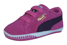 Puma Suede Crib Infant / Baby Girls First Walker Sneakers - Carmine Rose