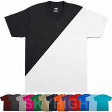 6 PACK Mens V-NECK T-Shirts Heavy Plain Bulk Lots Wholesale Basic Tee Big & Tall