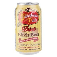PA Dutch Diet Birch Beer Soda - 12 Cans - Free Expedited Shipping!