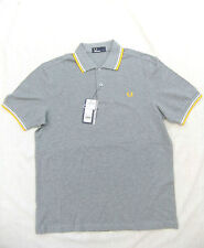 NEW FRED PERRY M1200 MENS TWIN TIPPED STEEL MARL POLO SHIRT