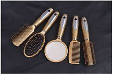 Set of 5 Hairdressing Vintage Health care Hand Brush Mirror Comb Brushes Makeup
