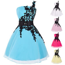 Womens Lace Prom Ball Party Dress Bridesmaid Evening Formal Gown Short Dresses