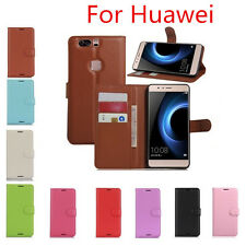 NEW Litchi Leather wallet flip stand pouch Cover Skin Case For Huawei Series A