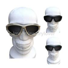 Outdoor Tactical Goggles Mask Safety Steel Mesh Eyewear Eye Protective Glasses