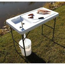 NEW Guide Gear Folding Fishing Accessories Game Cleaning Table with Sink-Faucet