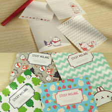 Molang Sticky Memo Pad NOTE TYPE Post-it Bookmark Tab Mark Cute Rabbit Marker