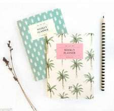 Iconic A6 Weekly Planner Mini Diary Scheduler Note Journal Agenda Schedule Book