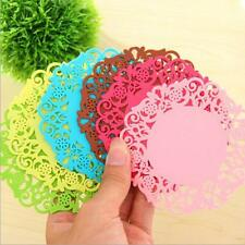 4Pcs/Set Silicone Hollow Flower Coaster Cup Cushion Holder Drink Placemat Mat
