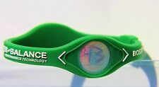 Power Balance - NBA BOSTON CELTICS White Writing, Bracelet Band  - Wristband NEW