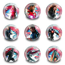 9-90PCS Captain America Tin Buttons pins BROOCH badges 30MM New pack Kids Gift