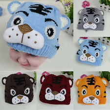 Baby Girls Boys Kids Toddler Crochet Knit Cute Tiger Hat Child Beanie Cap Bonnet