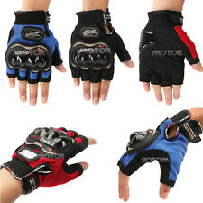 M/L Blue/Black Pro-biker Bicycle Motorcycle Cycling Sport Half Fingerless Gloves