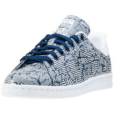 adidas Stan Smith W Womens Trainers Blue Print New Shoes