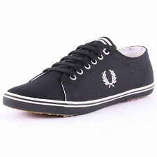Fred Perry Kingston Twill Mens Trainers Black New Shoes