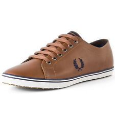 Fred Perry Kingston Mens Trainers Tan New Shoes