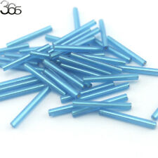 3.5x30mm Jewelry Making DIY Loose Czech Glass Tube Spacer Seed Beads 90 Pcs