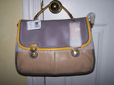 NWT Coach Poppy Leather Colorblock Large Dylan Flap Satchel - 22431
