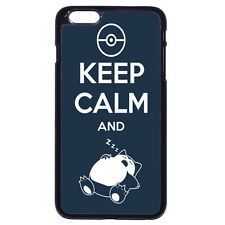 Keep Calm and Snorlax Pokemon Case Cover For Apple iPhone iPod & Samsung Galaxy