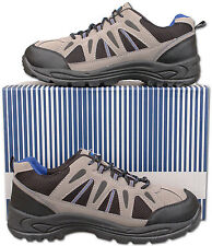Mens New Grey Lace Up Hiking Walking Trail Trainers Size 6 7 8 9 10 11 12