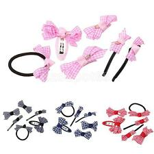 6pcs Girls Baby Kids Toddler Hair Bows Alligator Clips Hair Pin Band Accessories