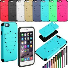 """Hybrid TPU+PC Case+Stylus Pen For iPhone 6 6S 4.7"""" Shield Protector Hard Cover"""