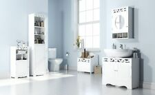 BATHROOM CABINETS, UNDERBASIN WALL LAUNDRY BIN TALL CABINET ST TROPEZ WHITE