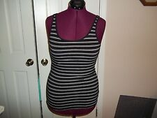 OLD NAVY LADIES SIZE L. BLACK/WHITE STRIPE PINK/WHITE STRIPE TANK TOP KNIT SHIRT