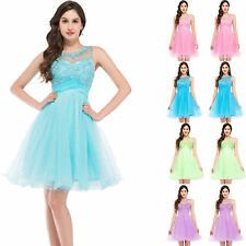 Short Backless Tulle Cocktail Evening Prom Dress Party Ball Gown Bridesmaid dres