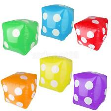 """Kids Blow Up Dice Toys 23.6"""" Inflatable Games Party Swimming Pool Funny Play"""