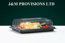 50 X MINI Buffet Catering Partyfood/Sandwich Platter Trays with Snap On Lids