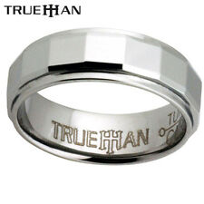 New Facets Unique Tungsten Trueman Carbide Mens Band Ring Size 8.25-13.25
