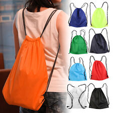 Premium School Drawstring Duffle Bag Sport Gym Swim Dance Shoe Backpack FJ