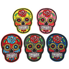 Skull Gothic Punk Sew Embroidery Iron On Patch Badge Embroidered Fabric Applique