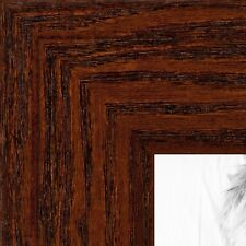 ArtToFrames 1.5 Inch Walnut Stain on Oak Wood Picture Poster Frame ATF-80206